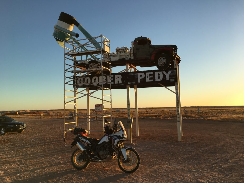 Africa Twin at the Coober Pedy Truck