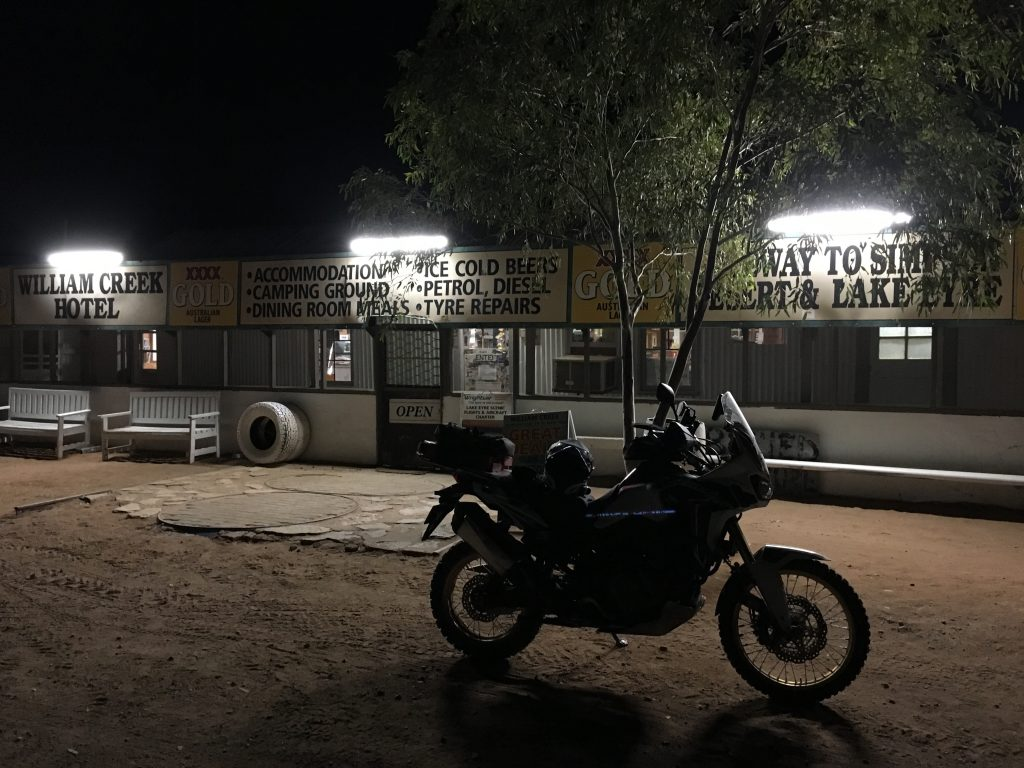 Last time at William Creek in the Dusty Butt